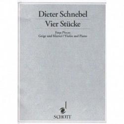 Schnebel. 4 Piezas (Violin...