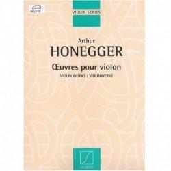 Honegger. Obras para Violin...
