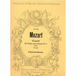 Mozart. Concierto Nº3 Sol Mayor KV216 (2 Flautas, 2 Oboes, 2 Trompas)