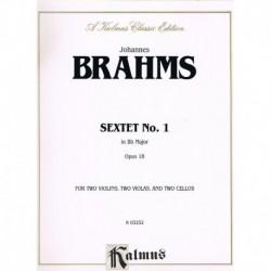 Brahms, Joha Sexteto Nº1 Sib Mayor Op.18 (2 Violines, 2 Violas, 2 Cellos)