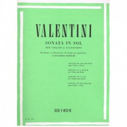 Valentini. Sonata Sol Mayor...
