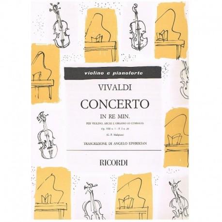 Vivaldi. Concierto Re menor Op.8 Nº7 F.I Nº28 (Violin y Piano)