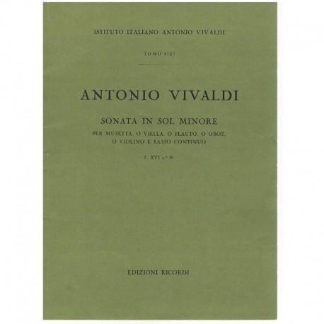 Vivaldi. Sonata Sol menor F.XVI Nº10 (Violin y Piano)