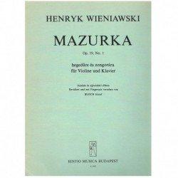Wieniawski. Mazurka Op.19...