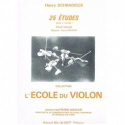 Schradieck. La Escuela del Violin. 25 Estudios Op.1 Vol.1 (Violin)