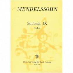 Mendelssohn, Sinfonía Nº9 Do Mayor (2 Violines, 2 Violas, Contrabajo)