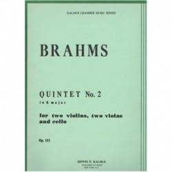 Brahms, Joha Quinteto en Sol Mayor Nº2 Op.111 (2 Violines, 2 Violas, Cello)
