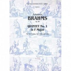 Brahms. Quinteto Nº1 en Fa Mayor Op.88 (2 Violines, 2 Violas, Cello)
