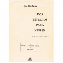 Alos Tormo. Dos Estudios para Violin