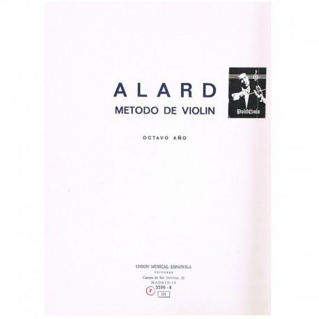 Alard. Metodo de Violin. 8º Año. Ume
