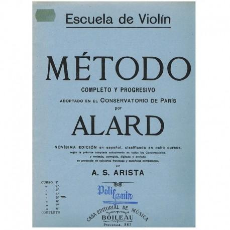 Alard. Escuela de Violin. Metodo Completo y Progresivo 5º Curso. Boileau