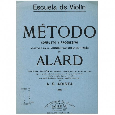 Alard. Escuela de Violin. Metodo Completo y Progresivo Curso 8º. Boileau