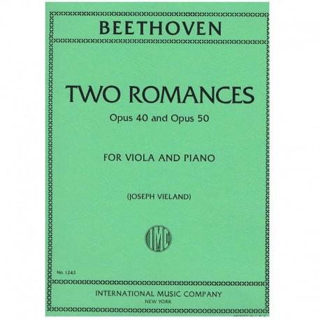 Beethoven. 2 Romances Op.40 y Op.50 (Viola y Piano)