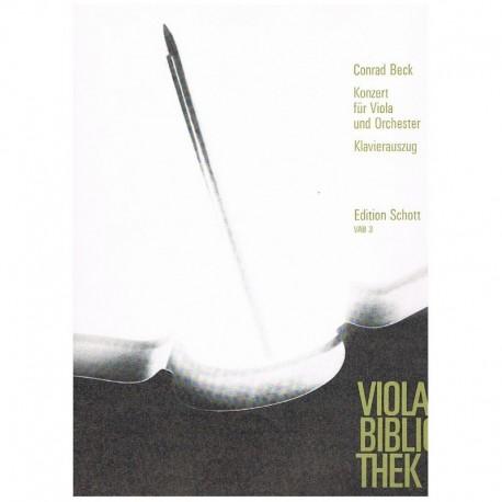 Beck, Conrad Concierto (Viola y Piano)