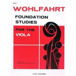 Wohlfahrt Foundation Studies for The Viola. Book 2