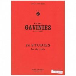 Gavinies. 24 Estudios para Viola