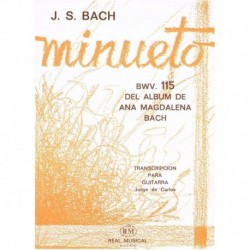 Bach, J.S. Minueto BWV.115 (Del Album de Ana Magdalena Bach) (Guitarra)