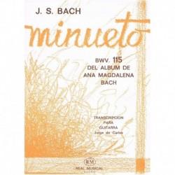 Bach, J.S Minueto BWV.115 (Del Album de Ana Magdalena Bach) (Guitarra)
