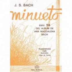 Bach, J.S Minueto BWV.114 (Del Album de Ana Magdalena Bach) (Guitarra)