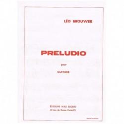 Brouwer, Leo Preludio para Guitarra