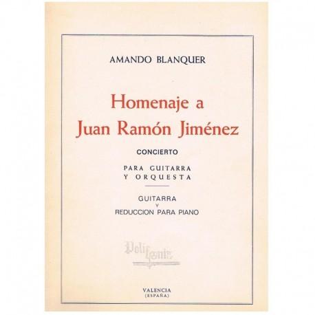 Blanquer. Homenaje a Juan Ramon Jimenez (Guitarra y Piano)