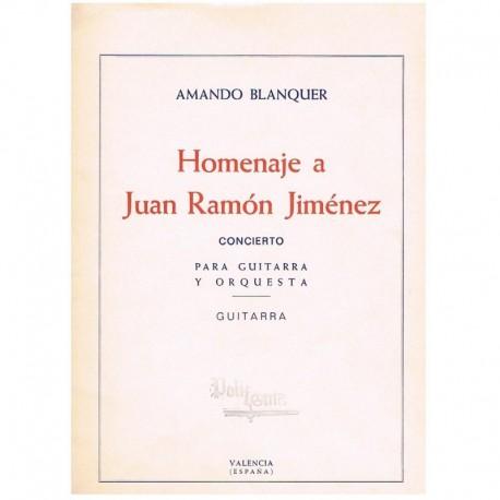 Blanquer. Homenaje a Juan Ramon Jimenez (Guitarra Sola)