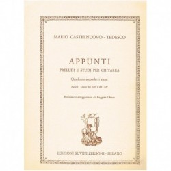Castelnuovo Tedesco. Appunti. Preludios y Estudios. Ritmo. Parte 1: Danzas del '600 y