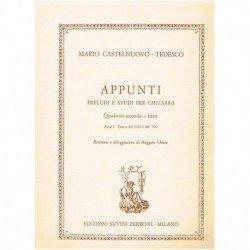 Castelnuovo- Appunti. Preludios y Estudios. Ritmo. Parte 1: Danzas del '600 y
