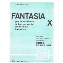 Mudarra. Fantasia X (Guitarra)