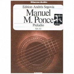 Ponce. Preludio (Guitarra)