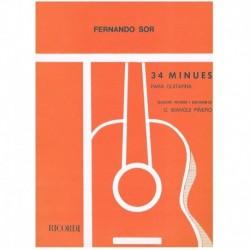 Sor. 34 Minues para Guitarra