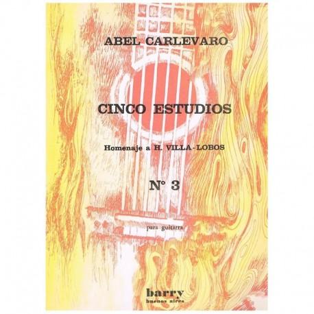 """Carlevaro. Estudio Nº3 Homenaje a Villa Lobos (Guitarra)"""""""""""