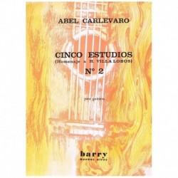 """Carlevaro. Estudio Nº2 Homenaje a Villa Lobos (Guitarra)"""""""""""
