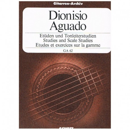 Aguado, Dionisio. Estudios y Ejercicios de Escalas (Guitarra)