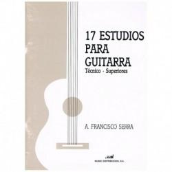 Serra. 17 Estudios Tecnico-Superiores para Guitarra