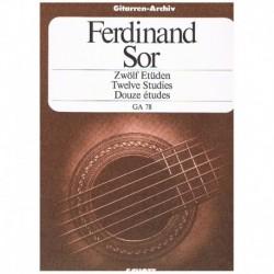 Sor, Fernando. 12 Estudios...