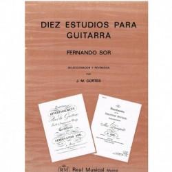 Sor. 10 Estudios para Guitarra