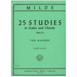 Milde. 25 Estudios Op.24. Escalas y Acordes (Fagot)