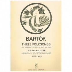 Bartok, Bela Tres Canciones Populares de la Ciudad de Csik (Flauta y Piano)