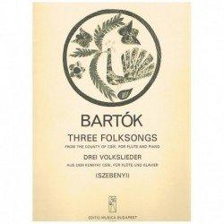 Bartok, Bela Tres Canciones...