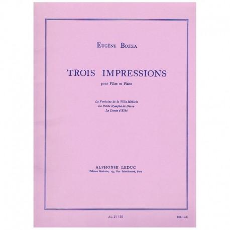 Bozza. 3 Impresiones (Flauta y Piano)