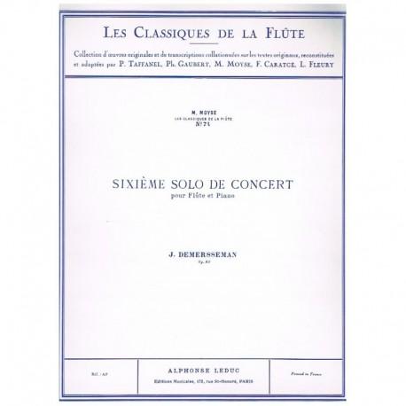 Demersseman. 6º Solo de Concierto Fa Mayor Op.82 (Flauta y Piano)
