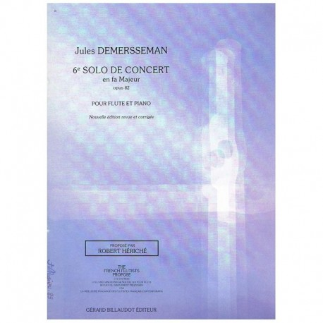 Demersseman, 6º Solo de Concierto Fa Mayor Op.82 (Flauta y Piano)