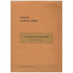 Garcia Abril. Cantos de Plenilunio (Flauta y Piano)