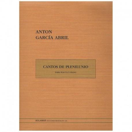 Garcia Abril Cantos de Plenilunio (Flauta y Piano)