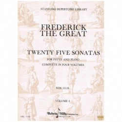 Frederick The Great. 25 Sonatas Vol.3 (Flauta y Piano)
