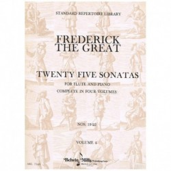 Frederick The Great. 25 Sonatas Vol.4 (Flauta y Piano)