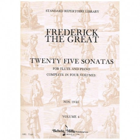 Frederick The Great. 25 Sonatas Vol.4 (Flauta y Piano)