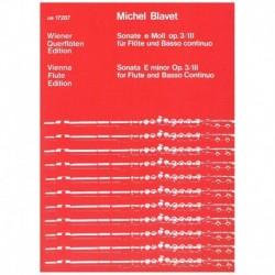 Blavet. Sonata Mi menor Op.3/III (Flauta y Piano)