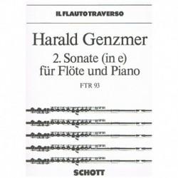 Genzmer. Sonata Nº2 Mi menor (Flauta y Piano)